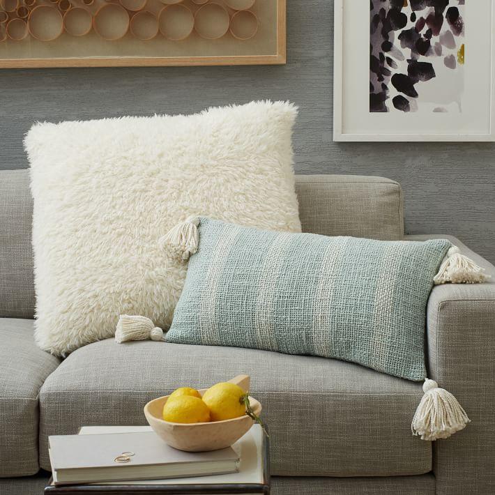 Tassel Stripe Pillow Cover Pale Harbor O