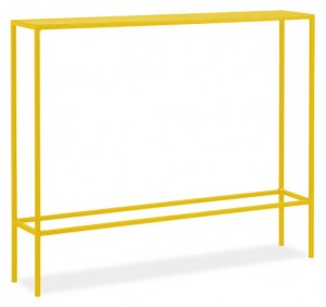 room and board slim console yellow