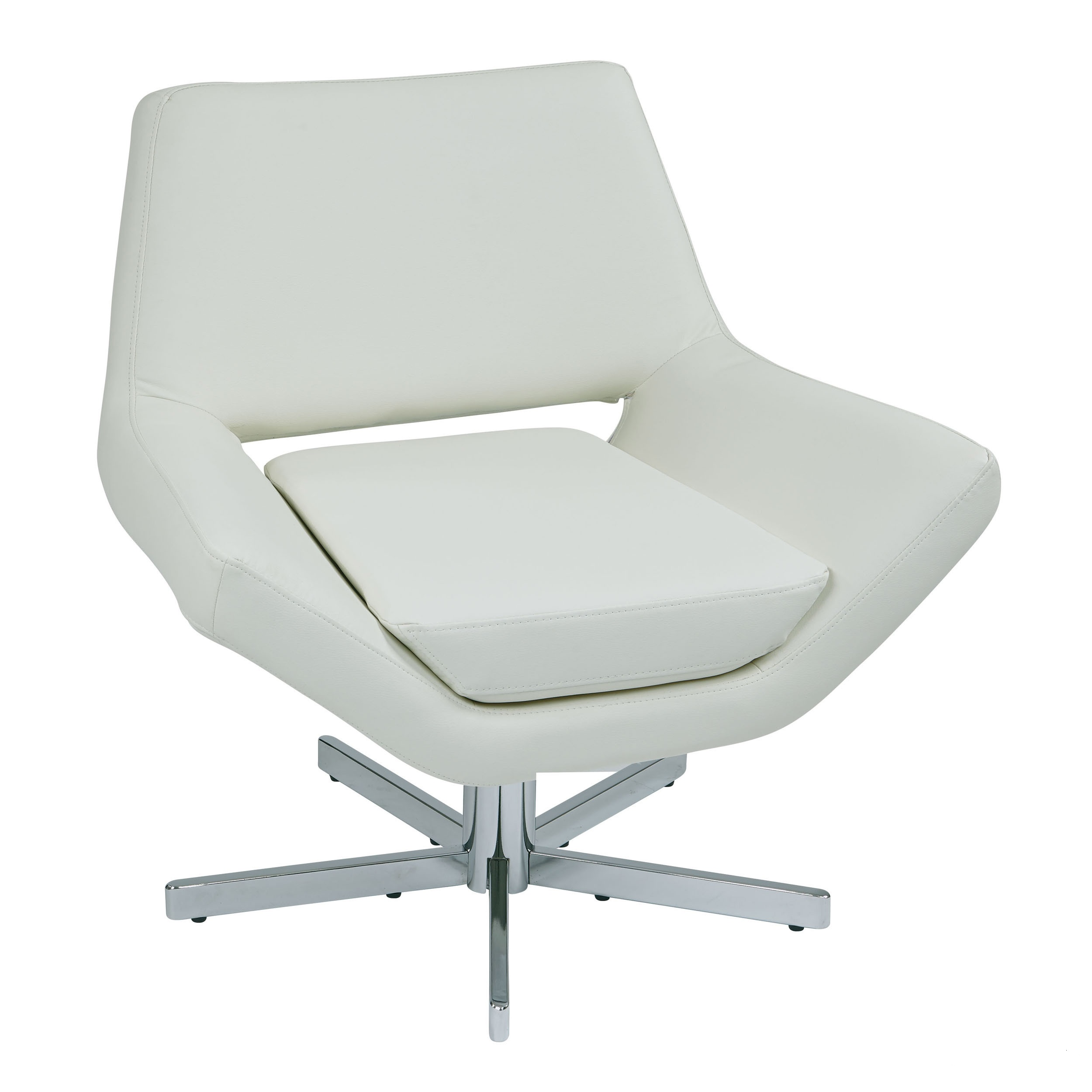 The look for less modern leather swivel chairs for White chair design