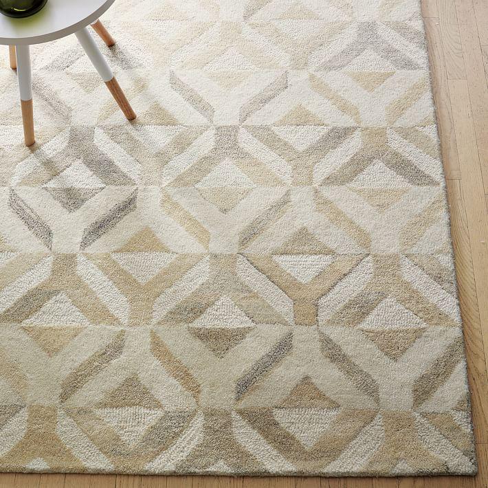 West Elm Wool Rug: Brown Floors And Brown Sofa