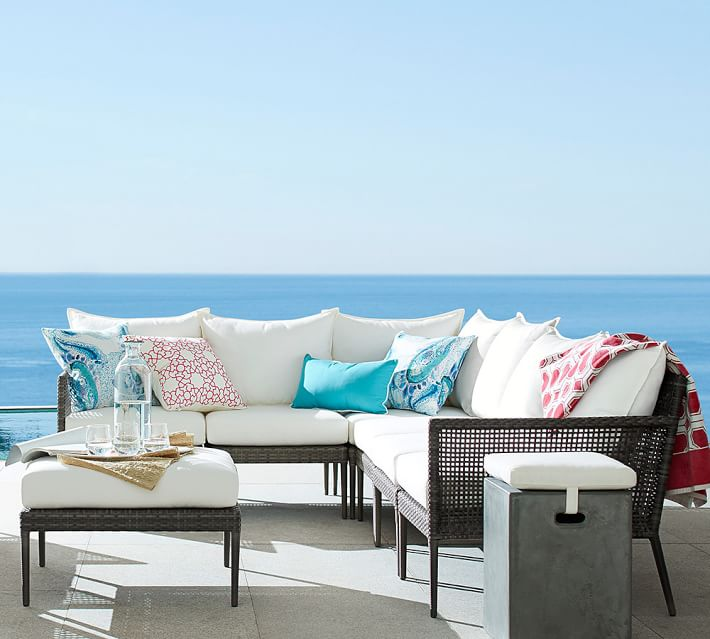 Online Interior Decorator Find Of The Week Pottery Barn Cammeray All Weather Sectional