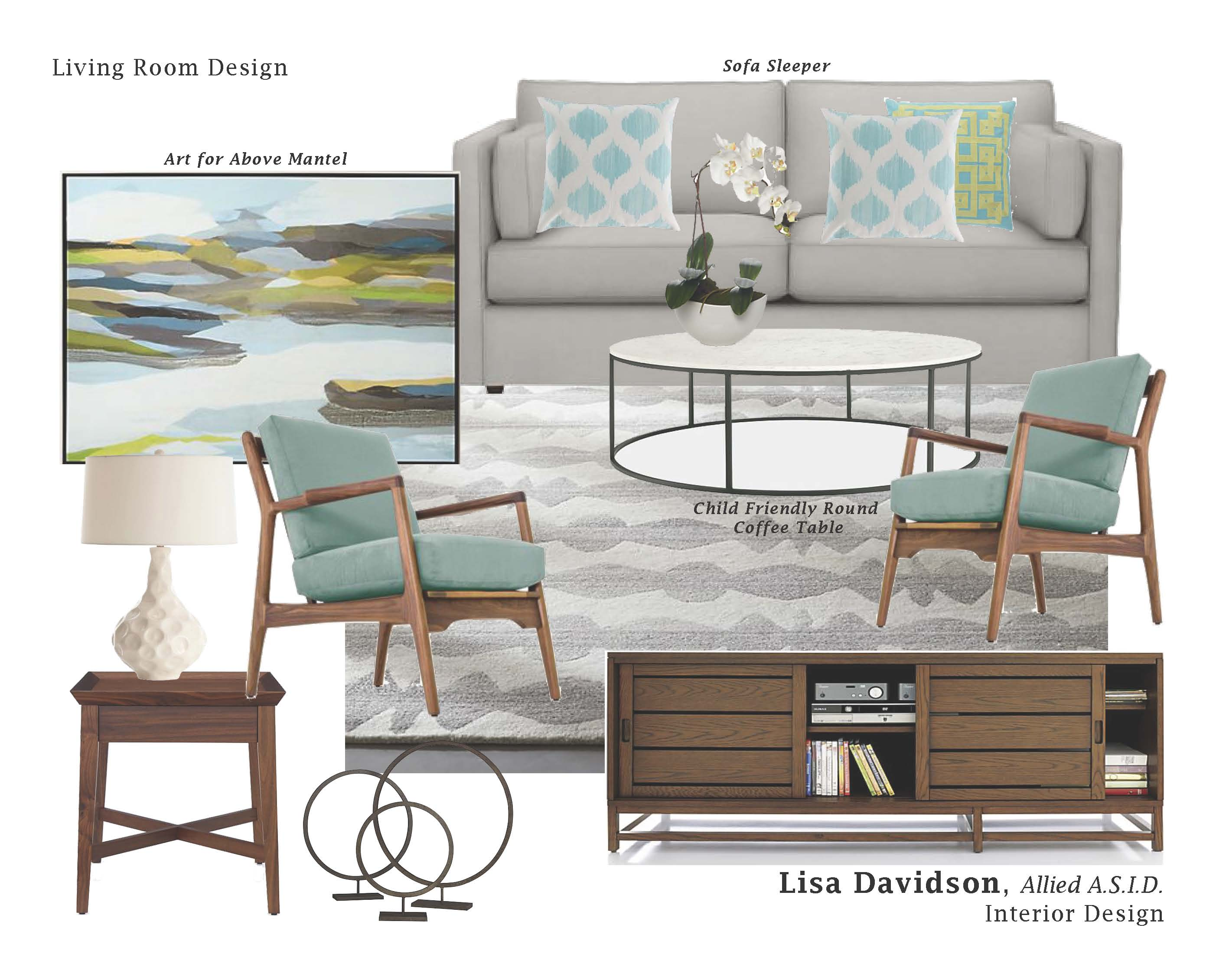 New Design Board – Texture, Grey Tones, Turquoise and Green Living ...