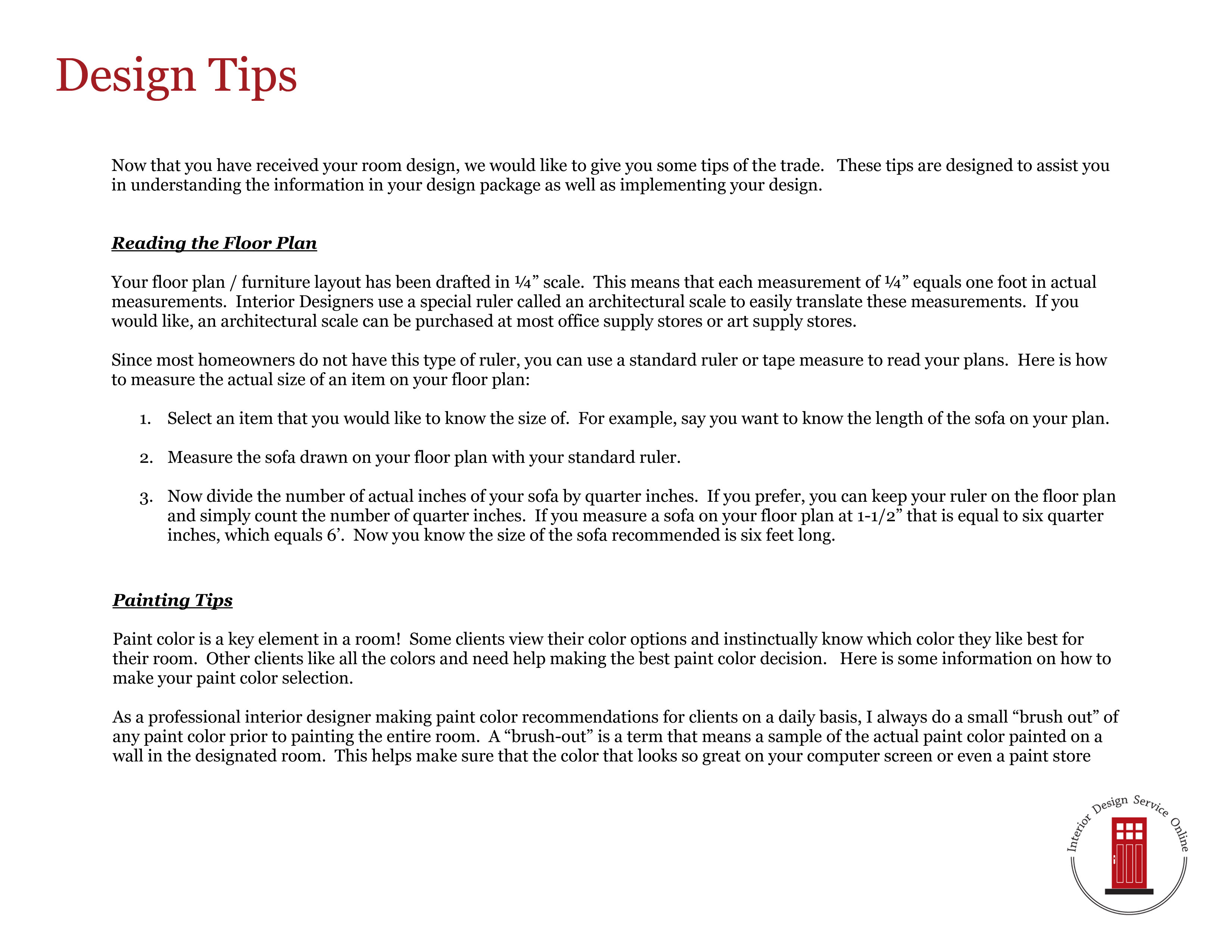 Design Tips These Help To Answer Questions That May Arise During The Set Up Process