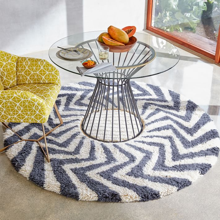 West Elm Round Rug Amazing Area Rug Best Round Area Rugs: West Elm Zigzag Circle Shag Rug